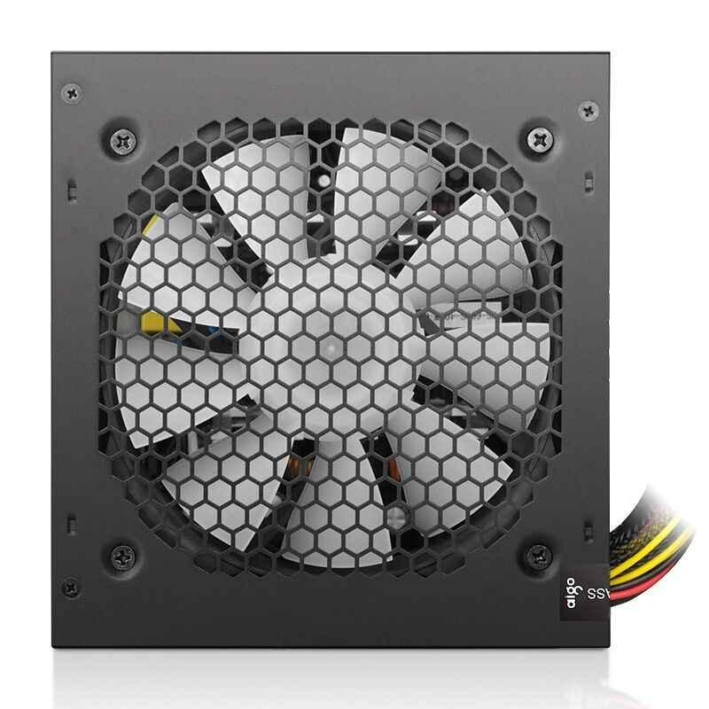 Aigo Max 600W Pc Psu Voeding 80 Plus Zwart Gaming Stille 120 Mm Fan 20/24pin 12V Atx Nieuwe Desktop Computer Voeding Voor Btc