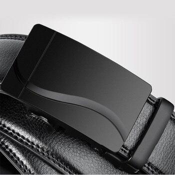 Men's Simple-Buckle Cowskin Belts