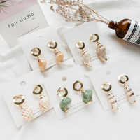 2019 Lovely Stylish  Natural Conch Pendantes Korean Earrings Exquisite Cute Women's Earrings oorbellen aretes de mujer