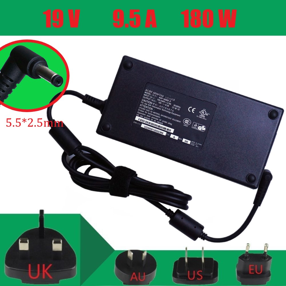 19V 9.5A 5.5*2.5mm 180W New Original Laptop Ac Adapter Power Charger For Asus G55VW G75VW ROG G750 G750JM Power Supply