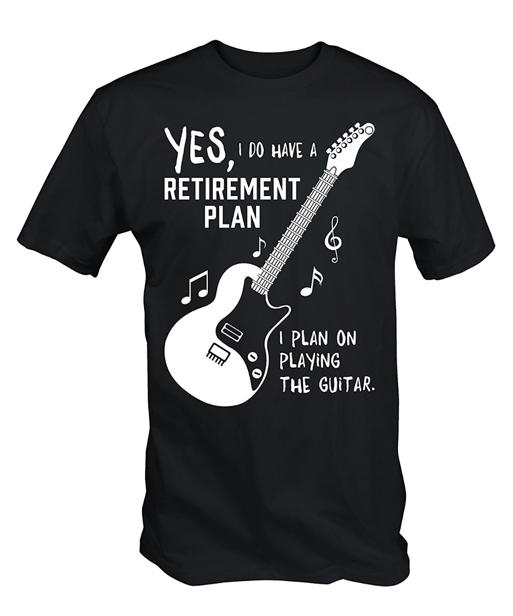 New Cool T Shirts Designs Best Selling O-Neck Comfort Soft Short Sleeve Mens My Guitar IS My Retirement Plan T Shirt for Men image