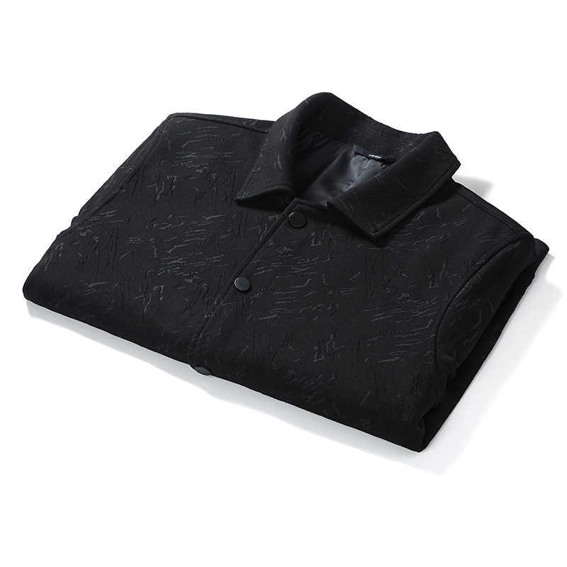プラスサイズ 8XL 新着秋のメンズのジャケットファッションコート男性カジュアルスタンドカラージャケット男性 Outerdoor オーバーコート