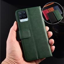 Leather Wallet Case for Realme 8 C21 C3 C3i C11 C12 C15 C17 C20 C25 V11 V15 V5 3 3i 5 5s 5i 6 6i 6s 7 X7 Pro 7i Fitted Cover