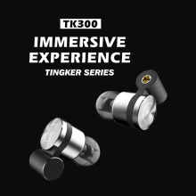 Tingker TK300 HiFi Stereo 2BA(Knowles)+1Dynamic Hybrid Earphones IEM with classical V shape  with deep bass