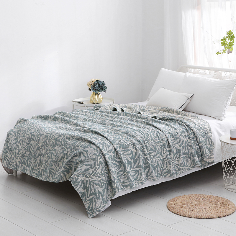 Vintage Pure Cotton Summer Cooling Simple Universal Blanket Spring and Autumn Quilt Airable Cover Towel Blanket Towel Blanket