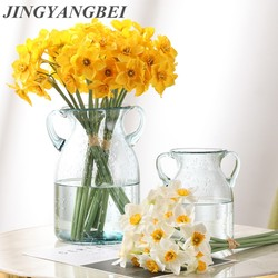 Artificial Narcissus Flower Bouquet Home Decoration Fake Desktop Flowers Wedding Scene Decor Daffodil