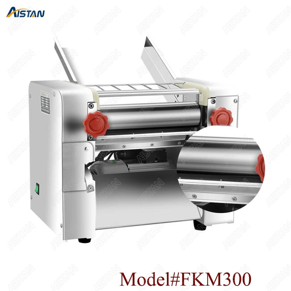 FKM300 Electric Dough Roller Stainless Steel Dough Sheeter Noodle Pasta Dumpling Maker Machine 220V Roller and Blade Changable 1