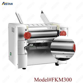 FKM300 Electric Dough Roller Stainless Steel Dough Sheeter Noodle Pasta Dumpling Maker Machine 220V Roller and Blade Changable 1