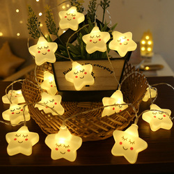 Милая светодиодная гирлянда со звездами, 40/20/10 светодиодов, Волшебная гирлянда, рождественские украшения для дома, спальни, новогодние праз...