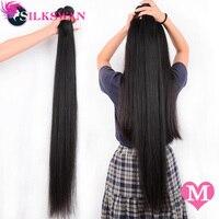 Silkswan, прямые человеческие волосы для наращивания, 10-30 дюймов, средний коэффициент, 100%, волосы remy, 28, 32, 34, 36, 40 дюймов, бразильские волнистые пря...
