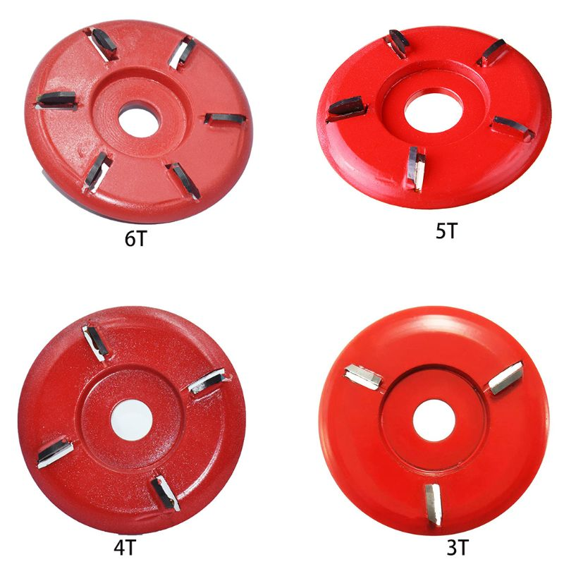Red Angle Grinder Curved Blade 90mm Diameter Woodcarving Disc Attachment Rotary Planer Power For Power Carving Woodcraft