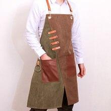 Nuevo delantal vaquero de moda para Chef cocina barbacoa con bolsillos de parrilla para hornear... delantales de cocina para hombr