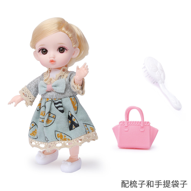 16cm/31cm Bjd Doll 12 Moveable Joints 1/12 Girls Dress 3D Eyes Toy with Clothes Shoes Kids Toys for Girls Children Birthday Gift 19