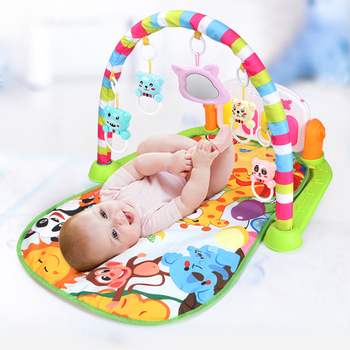 Baby Music Rack Play Mat Puzzle Carpet With Piano Keyboard Kids Infant Playmat Gym Crawling Activity Rug Toys for 0-12 Months