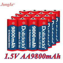 4-20 pçs nova marca aa 9800 mah bateria recarregável 1.5 v novo alcalino recarregável batery para led luz brinquedo mp3 frete grátis