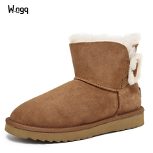 New Arrival 100% Real Fur Classic Mujer Botas Waterproof Genuine Cowhide Leather Snow Boots Winter Shoes for Women ankle boots jungle party green latex balloons woodland animal palm leaf foil balloons safari party baloons birthday party decor baby shower