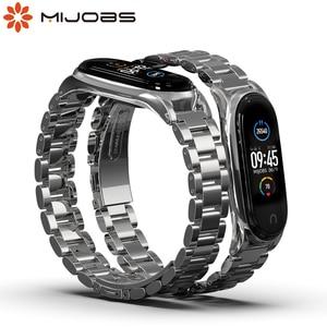 Image 2 - Mi Band 2 металлический ремешок на запястье браслет из нержавеющей стали для Xiaomi Mi Band 2 умные Аксессуары Часы Miband 5 4 3 2 браслет