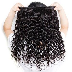 Image 5 - lanqi Peruvian hair bundles with closure nonremy human hair weave bundles with closure Brazilian water wave bundles with closure