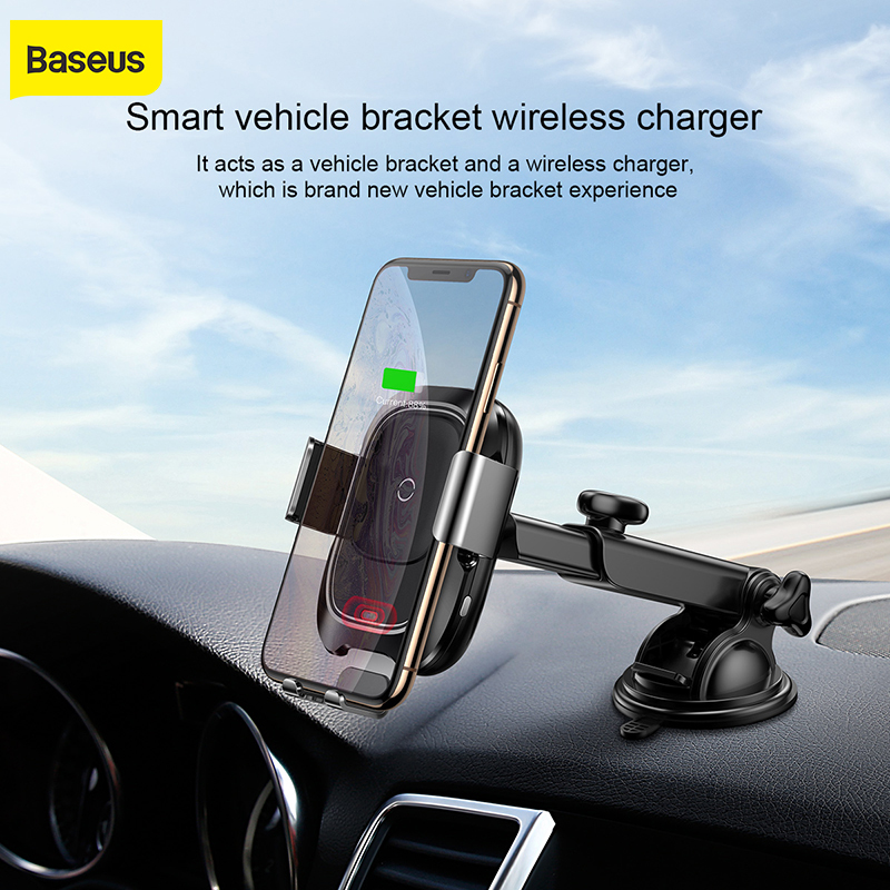 Baseus Car wireless charging mobile phone holder for iPhone X 