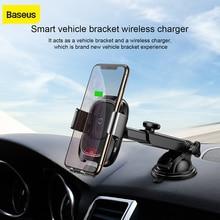 Soporte de teléfono móvil de carga inalámbrica de coche Baseus para iPhone X Samsung S10 S9 S8 QI soporte de teléfono inalámbrico