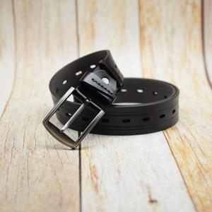 Image 1 - WESTERN AUSPICIOUS Men Belts Leather Designers Cowskin Male Strap With Alloy Buckle Ceinture Homme Green Blue belts cummerbunds
