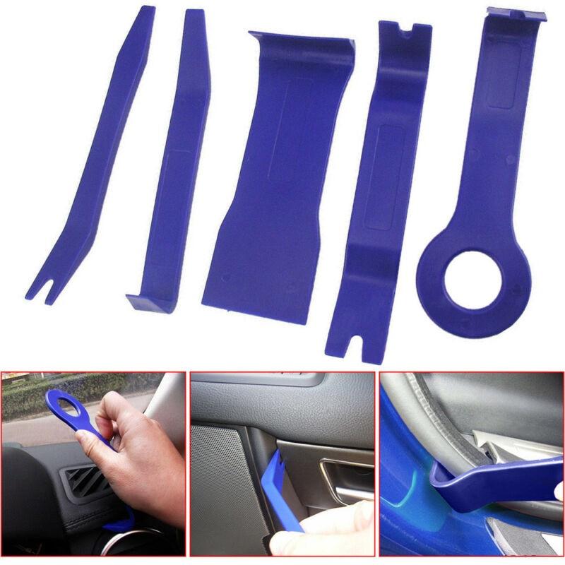 5PCS Car Trim Removal Set Radio Door Body Clip Panel Molding Pouch Pry Kit Tool