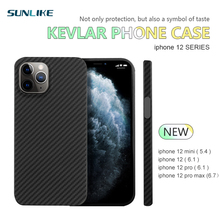 Kevlar real pure carbon fiber phone case for iphone