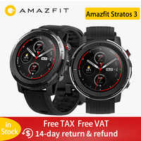 IN Stock Global Version New Amazfit Stratos 3 Smart Watch GPS 5ATM Bluetooth Music Dual Mode 14 Days Smartwatch For Xiaomi