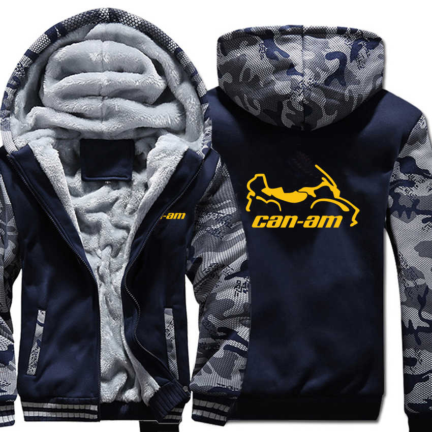 Can Am motos Hoodies hiver Camouflage manches veste hommes polaire Can Am Sweatshirts