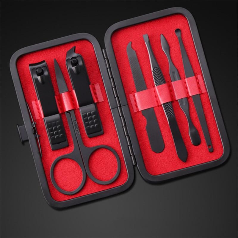 Новые маникюрные кусачки для ногтей набор педикюра из нержавеющей стали Портативный 7 шт./компл. набор режущих инструментов Инструменты для дизайна ногтей набор для гигиены путешествий|Комплекты и наборы|   | АлиЭкспресс