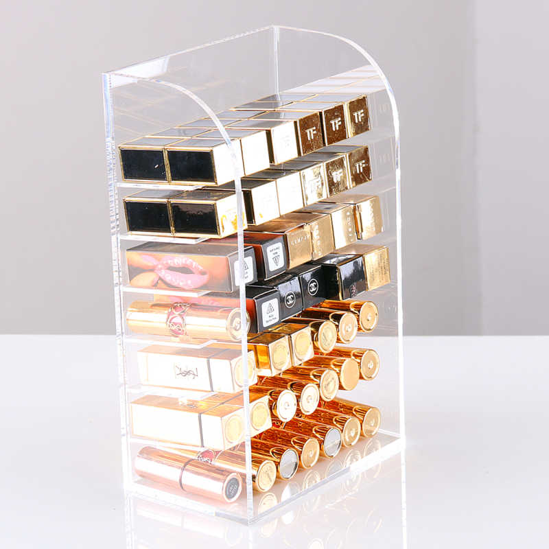 Clear Acrylic Make Up Storage Holder Makeup Organizer Storage Box Cosmetic Box Lipstick Jewelry Box Case Holder Display Stand
