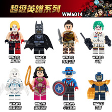 купить WM6014 Single Sale Thanos Woderwoman Harley Quinn Batman Joker Super Heroes Bricks Education Building Blocks Toys For Children в интернет-магазине