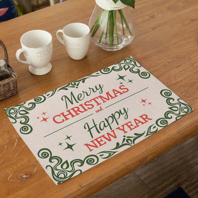 Seaan Christmas Placemats Decor