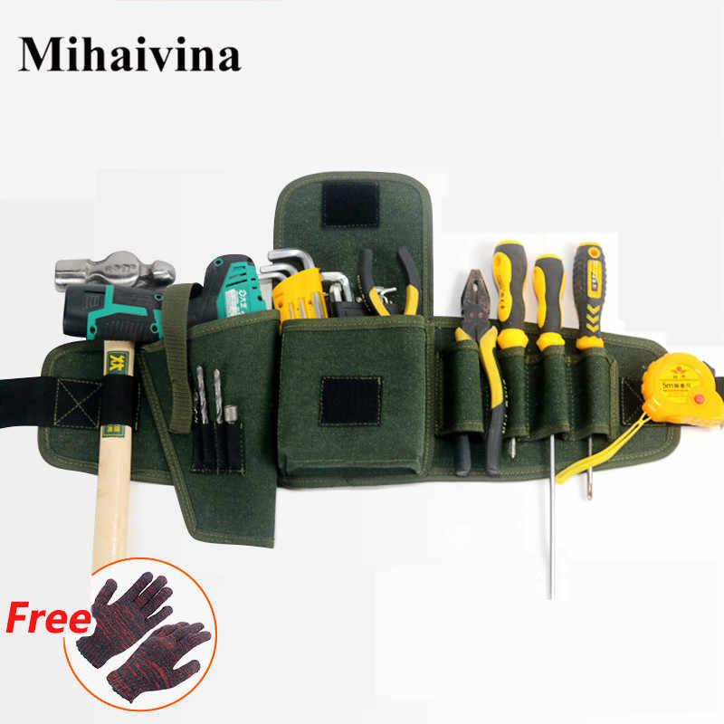 Mihaivina multi-poches sac à outils taille poches électricien sac à outils pochette de transport sac ceinture taille poche étui électrique perceuse sac