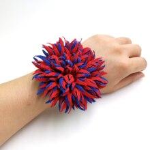 YD&YDBZ New 3 Color Optional Flower Woman Rubber Bracelet Bohemian Romantic Designer Handmade Girl Birthday Gift