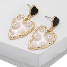 Bijoux Femme 2019 Luxury Metal Sexy Charm Western Korean Style Geometric element Drop Earrings For Wedding Party Banquet Jewelry(China)