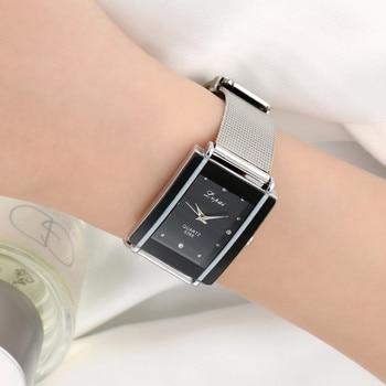 Luxury Women Watches Rectangular Design Stainless Steel Creative Dial Quartz Analog watches Ladies Watch Relogio Feminino 2020