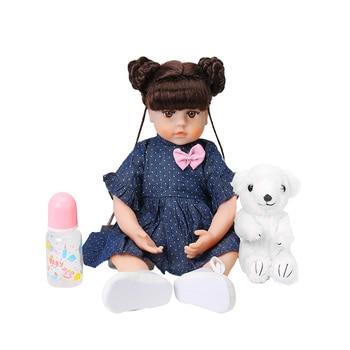 цена на 48CM Reborn Baby Doll Girl Lifelike Soft Silicone Dolls Baby Newborn Princess Toddler Toys For Kid Bonecas Xmas Birthday Gift