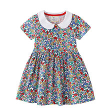 Jumping Meters Top Brand New 2020 Flowers Princess Dress for Summer Co