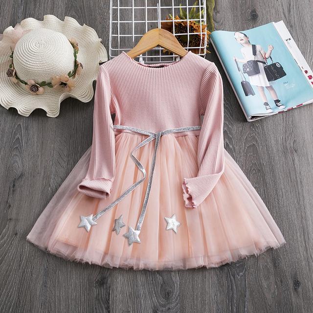 Girls Long Sleeves Casual Wear Dress
