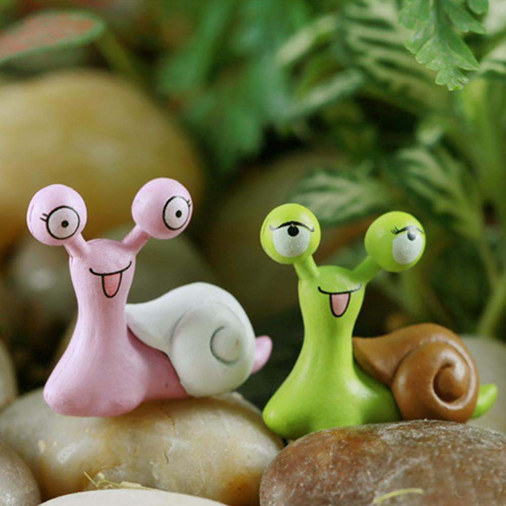 1pcs Miniature Snails Fairy Garden Dollhouse Bonsai Figurine Decor Ornament