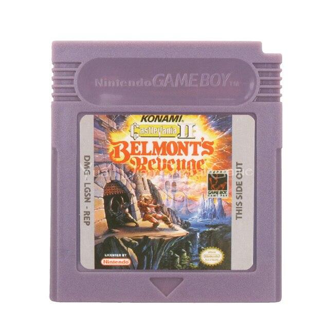 を任天堂gbcビデオゲームカートリッジコンソールカード悪魔城ドラキュラiiベルモントの復讐英語版
