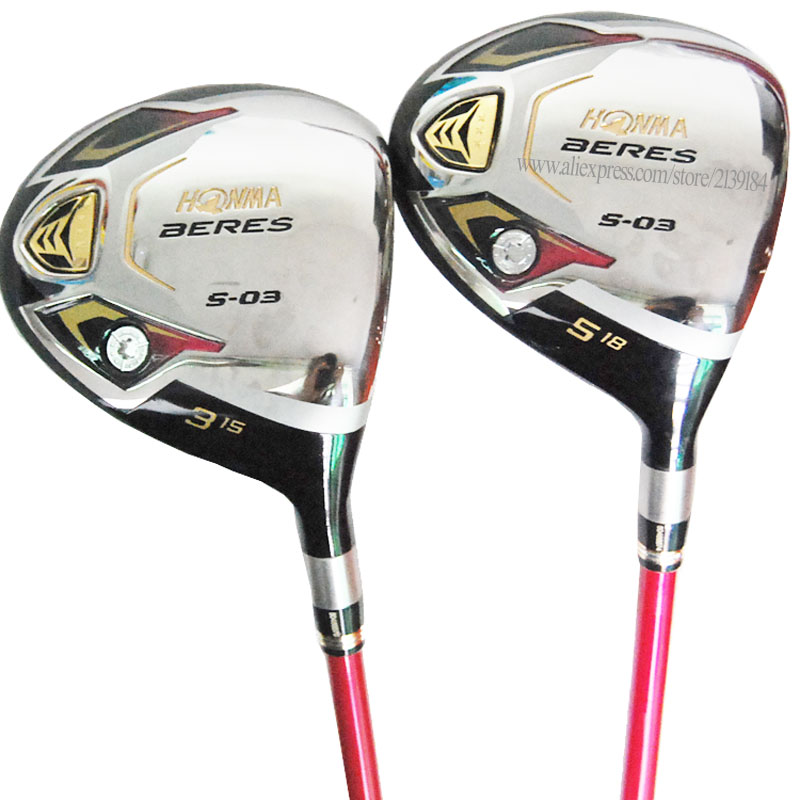 New Women Golf Clubs HONMA S-03  Golf Wood  3/5 Golf Fairway Wood Golf Graphite Shaft  L Wood Club Cooyute Free Shipping