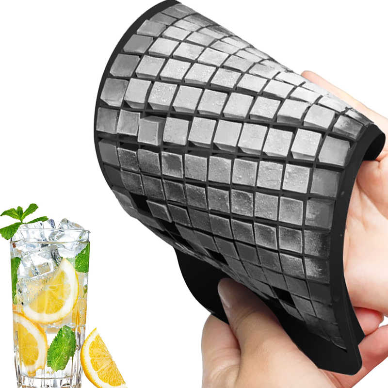 Ice Cube Tray 160 Grids 1X1cm Silicone Fruit Ice Cube Maker DIY Creative Small Ice Cube Mold Square Shape Kitchen Accessories