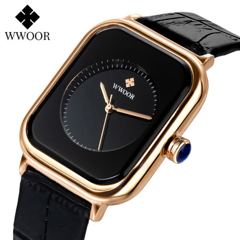 WWOOR 2020 Women Watches Top Brand Luxury Women Quartz Wristwatch Fashion Elegant Black Leather Watch For Women relogio feminino shifenmei watches women luxury brand waterproof fashion watches quartz watch woman leather wristwatch for girl relogio feminino