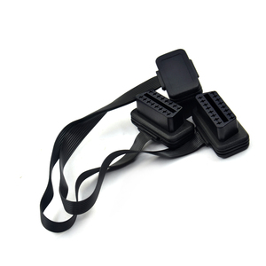 Image 3 - Flat Thin As Noodle 2in1 16Pin OBD 2 OBD2 Cable Connector Diagnostic Tool ELM327 Adapter Male to Female Extension Connector