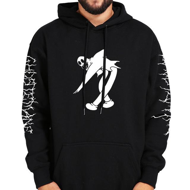 Hoodies Mercury Retrograde Image Printed Sweatshirt Black Long Sleeve Velvet Warm Soft Hooded