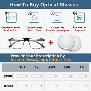 Image 2 - Anti Blue Ray Photochromic Gray Lens Optical Lenses Prescription Vision Correction Computer Reading Lens myopic hyperopia