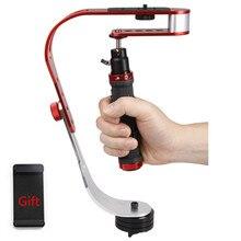 Aluminiowy Mini ręczny stabilizator aparatu cyfrowego ze statywem wideo Steadicam mobilny DSLR 5DII Motion DV Steadycam dla Gopro DJI