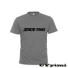 Tees T-Shirt ZXR750 KAWASAKI Short-Sleeve Round-Neck Men 100%Cotton for New LOGO Summer